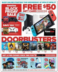 picture of Black Friday 2018: Gamestop Ad Scan