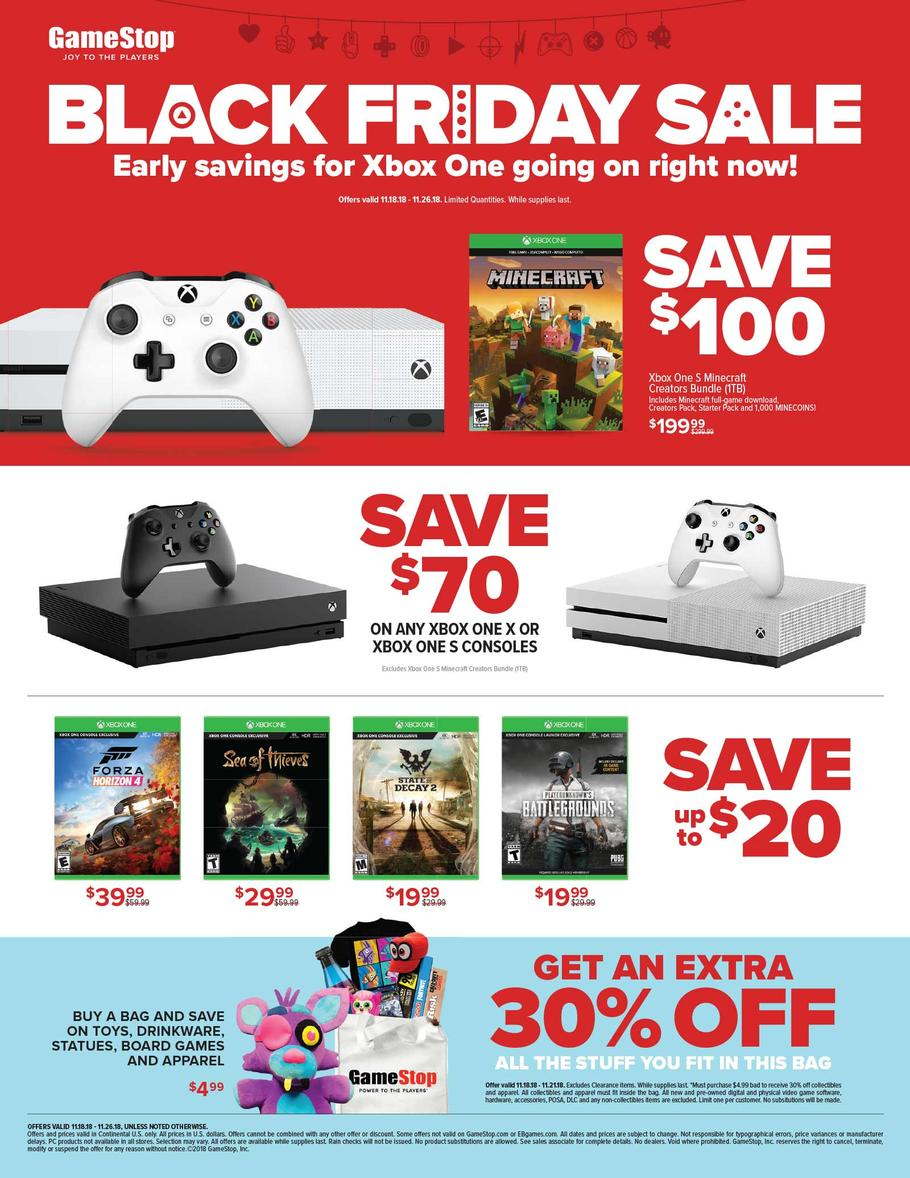 Gamestop Pre Black Friday 2018 Ad