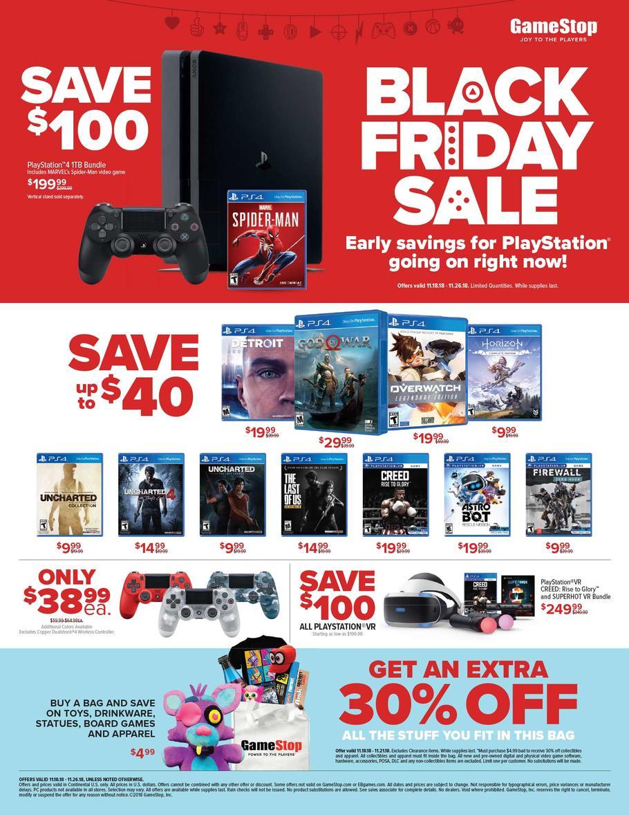 Gamestop Pre Black Friday 2018 Ad