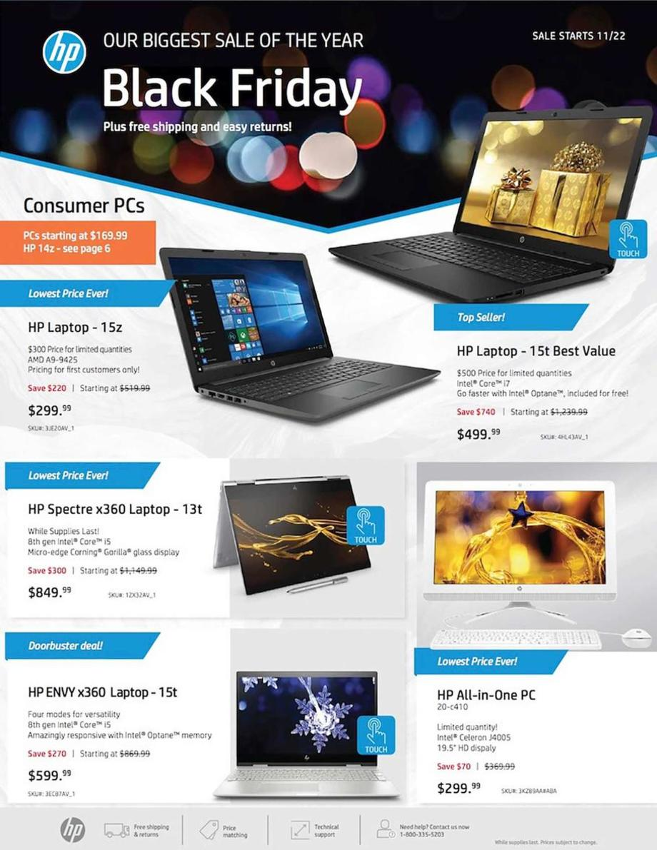 HP Black Friday 2018 Ad