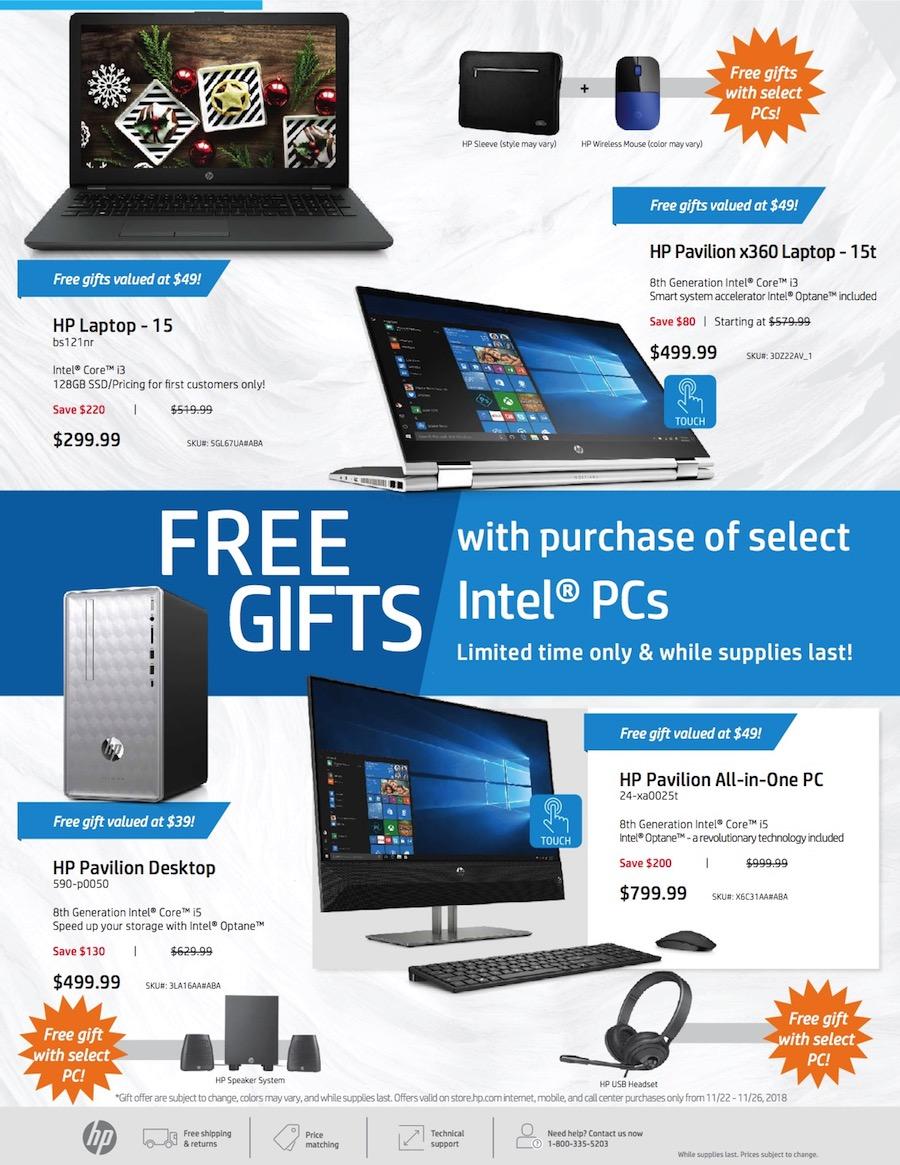 HP Cyber Monday 2018 Ad