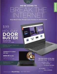 picture of Live: Black Friday 2018: Lenovo Ad Scan - Deals NOW