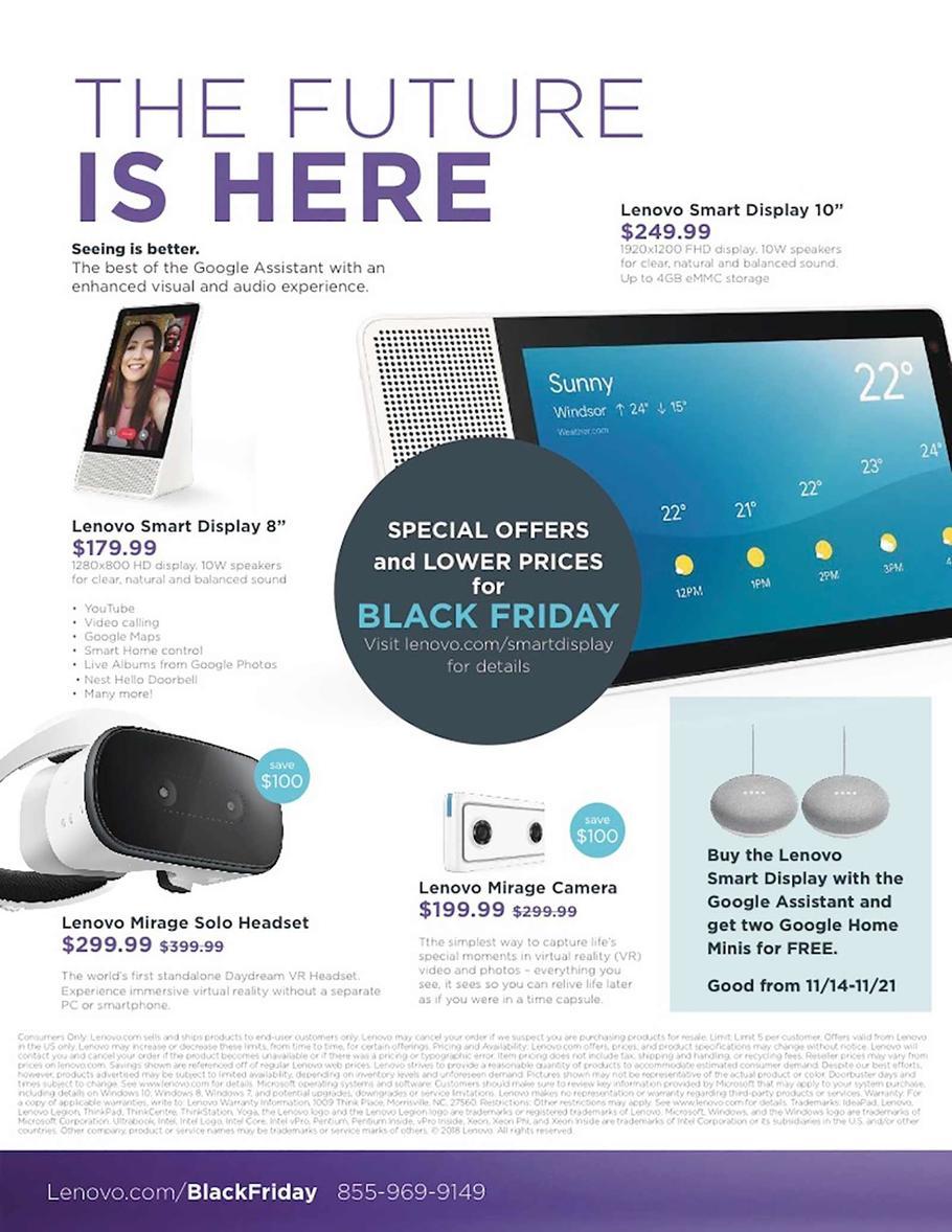 Lenovo Black Friday 2018 Ad
