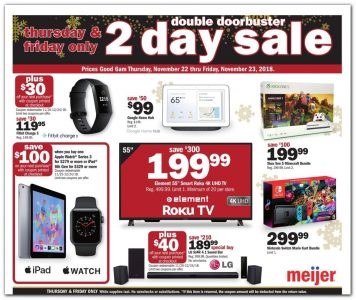 picture of Black Friday 2018: Meijer Ad Scan