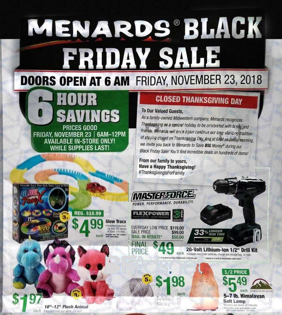 Menards Black Friday 2018 Ad
