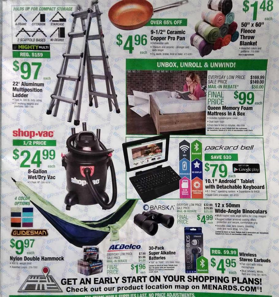 Menards Black Friday 2018 Ad