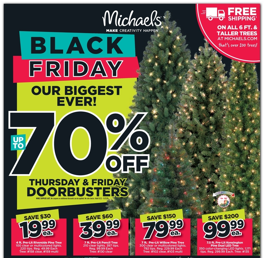 Michaels Black Friday 2018 Ad