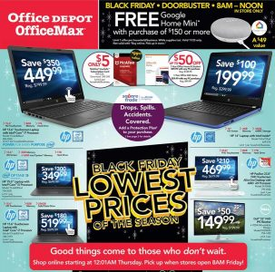 picture of Black Friday 2018: Office Depot Officemax Ad Scan