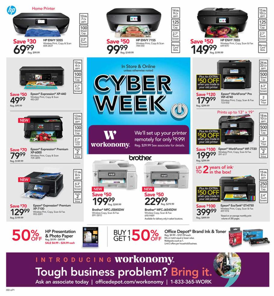 Office Depot OfficeMax Cyber Monday 2018 Ad
