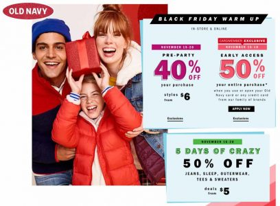 picture of Live: Black Friday 2018: Old Navy Ad Scan - 50% Off Now