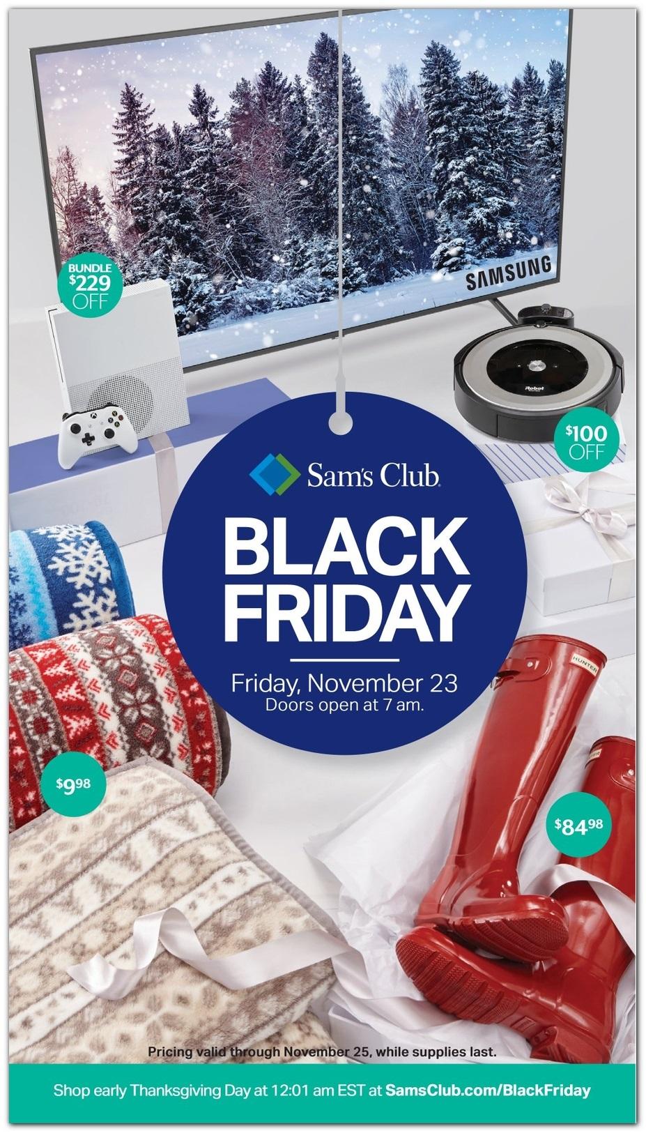 Sam's Club Black Friday 2018 Ad