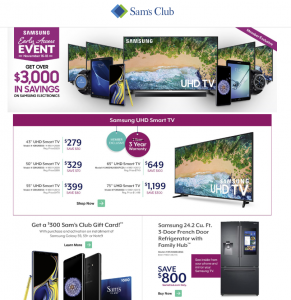 picture of Sam's Club Samsung Black Friday Early Access Event NOW - TVs, Phones, etc