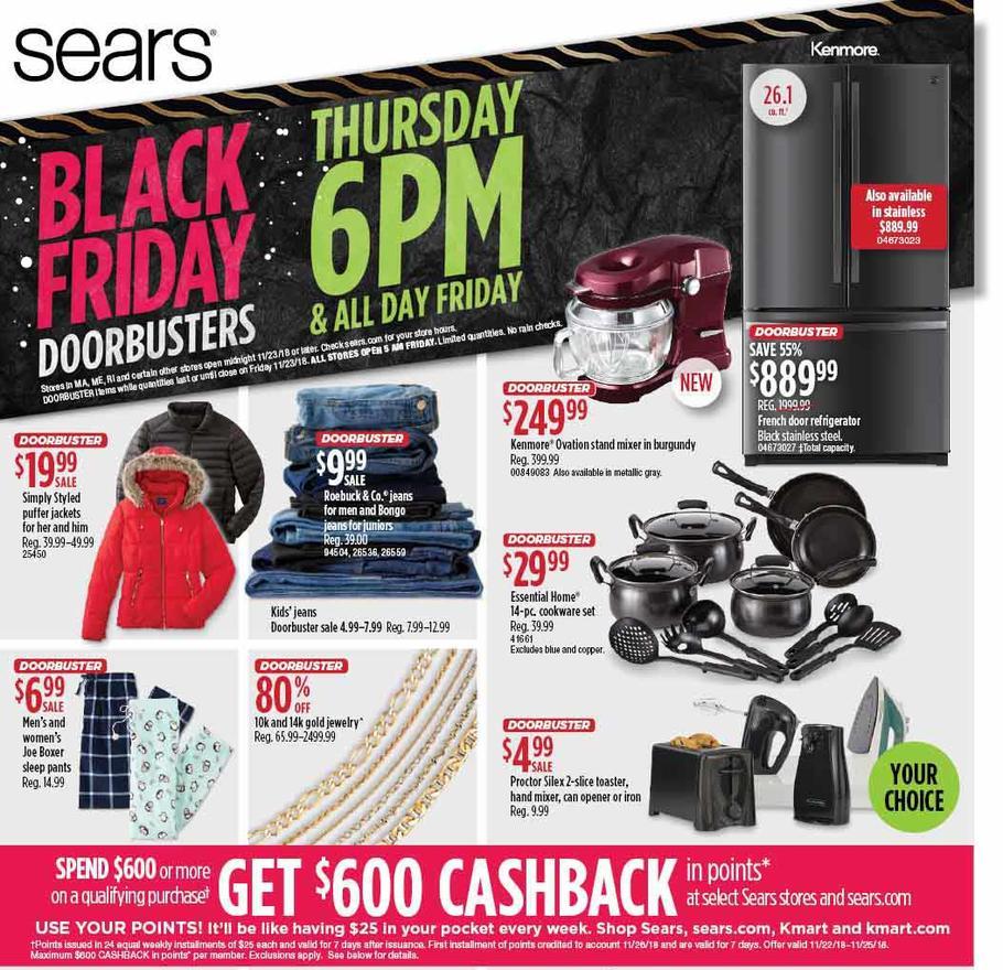 Sears Black Friday 2018 Ad