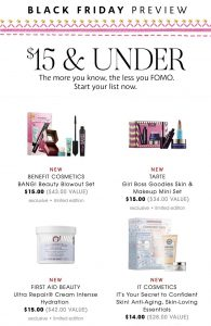 picture of Black Friday 2018: Sephora Ad Scan