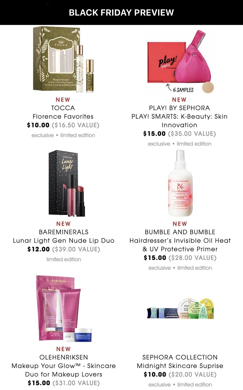 Sephora Black Friday 2018 Ad