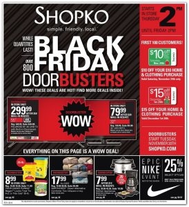 picture of Black Friday 2018: Shopko Ad Scan