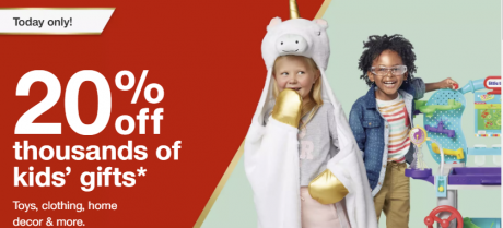 picture of Target 20% off Kids Toys, Clothing, Home Decor, More..
