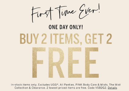 picture of Victoria's Secret Cyber Week - Buy 2 Items, Get 2 FREE
