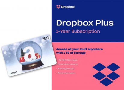 picture of Dropbox Plus (1 TB of Storage for 1 Year) with $50 Amazon Gift Card
