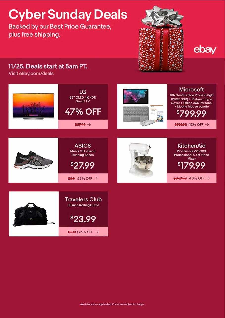 eBay Cyber Monday 2018 Ad
