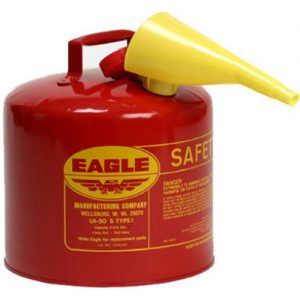 picture of Eagle Red Galvanized Steel Type I Gasoline Safety Can