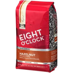 picture of Eight O'Clock Whole Bean Coffee, Hazelnut, 33 Ounce Sale