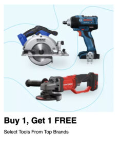 picture of Buy One Get One Free on Select Power Tools/Accessories
