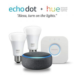 picture of New Echo Dot 3rd Generation with Alexa + Philips Hue Starter Kit