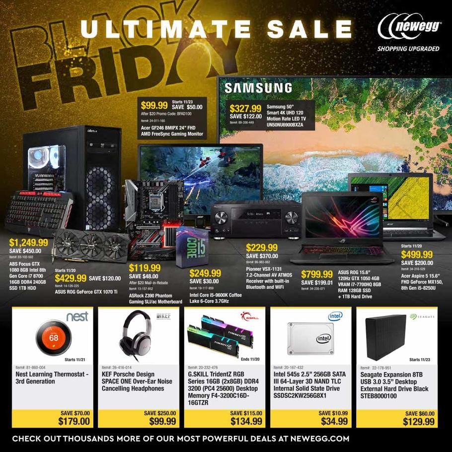 newegg black friday 2018 ad