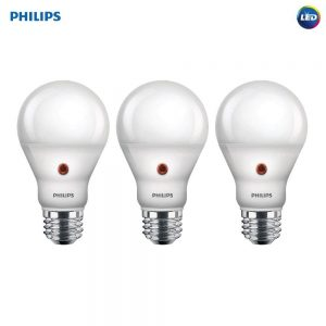 picture of Philips 3pk 60W Equivalent E26 Dusk to Dawn A19 Soft White LED Bulbs Sale