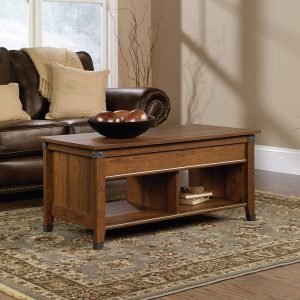 picture of Sauder Carson Forge Lift-Top Coffee Table, Washington Cherry Finish