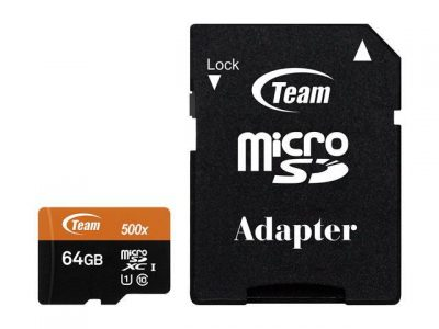 picture of Team 64GB microSDXC UHS-I/U1 Class 10 Memory Card with Adapter
