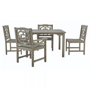 Martha Stewart Blue Hill 5-pc Eucalyptus Wood Patio Set $449.70