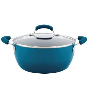 picture of Rachael Ray Classic Brights Hard Enamel Nonstick 5.5-Quart Covered Casserole Sale