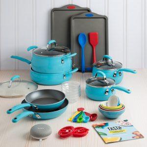 picture of Tasty 30 Piece Non-Stick Cookware Set + Free Google Home Mini