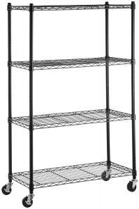 picture of AmazonBasics 4-Shelf Unit with 3'' Casters Sale