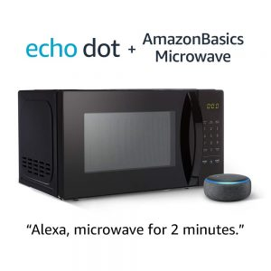 picture of AmazonBasics Microwave with Echo Dot (3rd Gen.) Sale