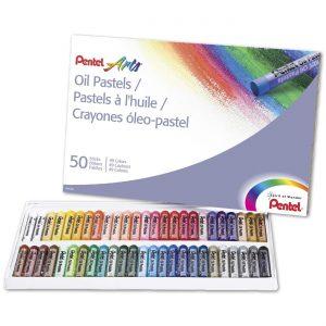 picture of Pentel 50-Color Oil Pastels Sale