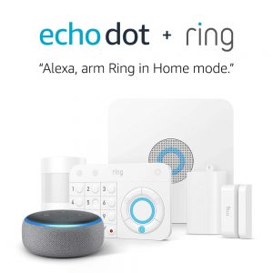 picture of Ring Alarm 5 Piece Kit + Free Echo Dot (3rd Gen), Works with Alexa Sale