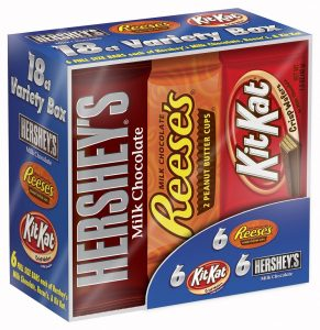 picture of Hershey's 18-ct Full Sized Variety Chocolate Bar Sale