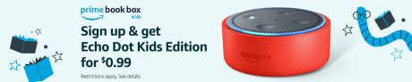 picture of Prime Members: Echo Dot Kids Edition + Prime Book Box Subscription Sale