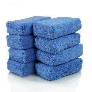picture of Chemical Guys Premium Grade Microfiber Applicators, Blue (Pack of 8) Sale