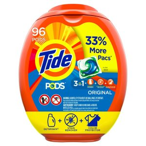 picture of Tide Pods Liquid Laundry Detergent Pacs Original, 96 Count Sale