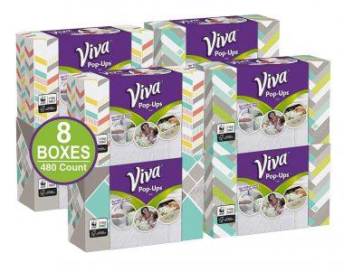 picture of Viva Pop-Ups Paper Towel Dispenser, White, 480 Sheets
