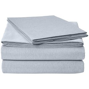 picture of AmazonBasics Chambray Sheet Set - Queen, Denim Wash Sale