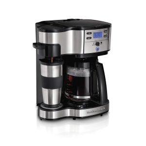picture of Hamilton Beach 2-Way Brewer Coffee Maker, Single-Serve with 12-Cup Carafe