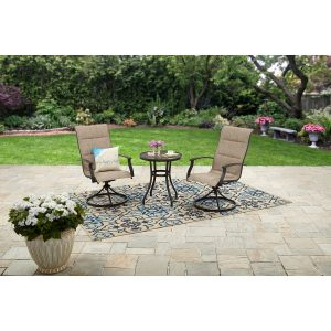 picture of Better Homes and Gardens Knolls 3-Piece Outdoor Bistro Set Sale