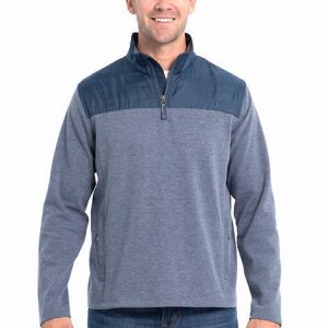 picture of Eddie Bauer Men's Mixed Media 1/4 Zip Pullover Sale