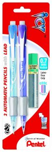 picture of Pentel Icy Automatic Pencil with Lead, 0.7 mm, Assorted Barrels, 2 Pack