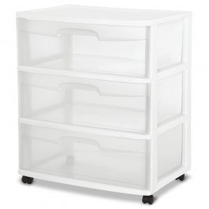 picture of Sterilite 3 Drawer Wide Cart Sale